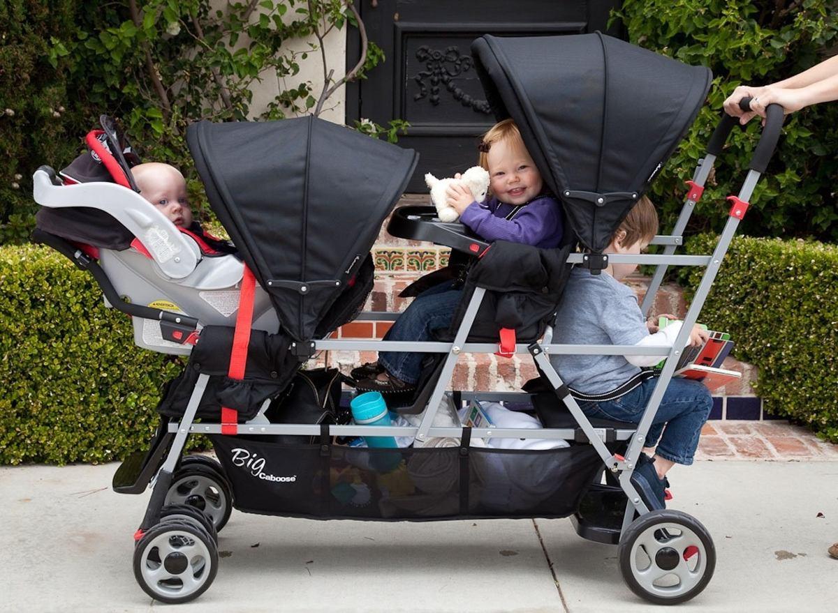 Carreola Carriola Triple Para Trillizos Bebes Para