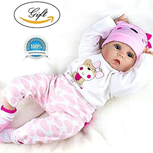 "22"" Full Body Silicone Reborn Baby Doll 55cm Realistic"