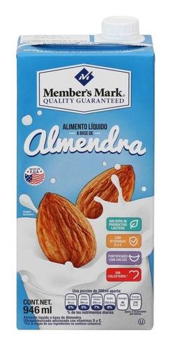 bebida de almendras member's mark 12 pzas de 946 ml