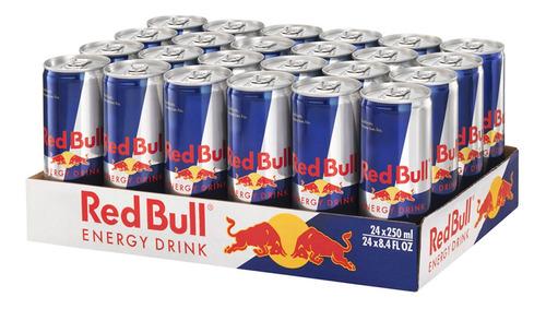 bebida energetica red bull regular edition 24 latas de 250ml