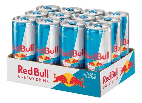 bebida energetica red bull sugar free 12 latas de 250ml