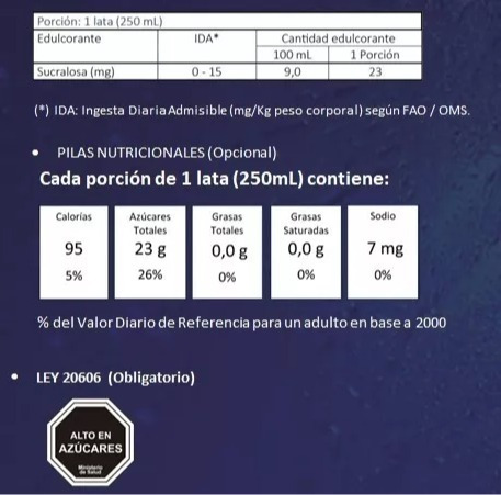 bebida energetica tula, pack 24 latas 250cc