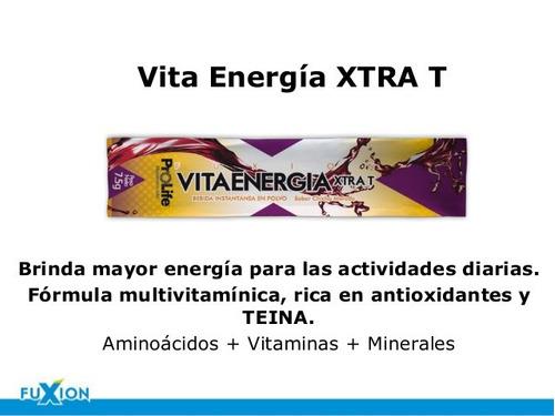 bebida energizante vita energia xtra  t+ * 7 sobres