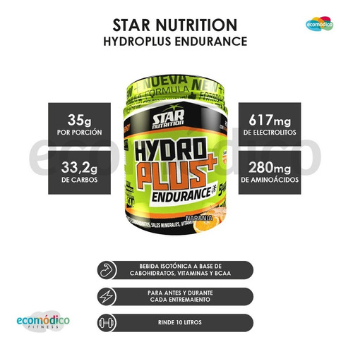 bebida isotonica hydro plus recovery x 700gr star nutrition