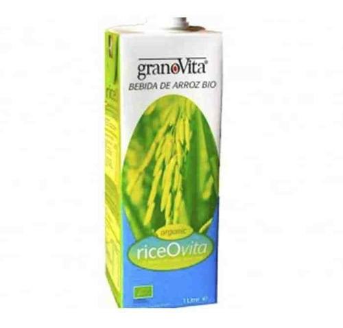 bebida orgánica de arroz y almendra bio sin gluten, 1 litro