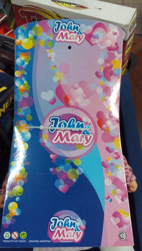 bebota de tela grande con vestido floreado  john & mary