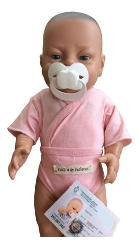bebote casita de muñeca bebe tipo reborn con pañal y chupete