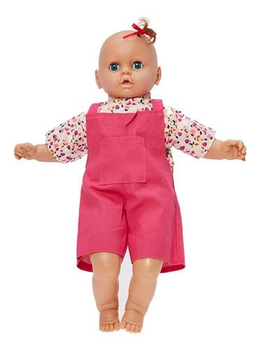 bebote de goma y tela grande con vestido turby muñeca 57 cm.