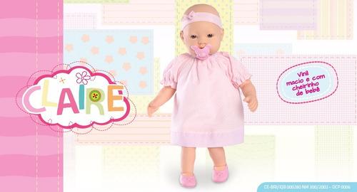 bebote muñeca claire con zapatitos  vincha olor a bebé 40 cm