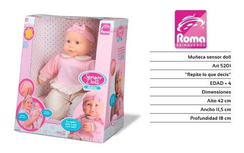 bebote muñeca sensor doll repite lo que decis roma 38 cm