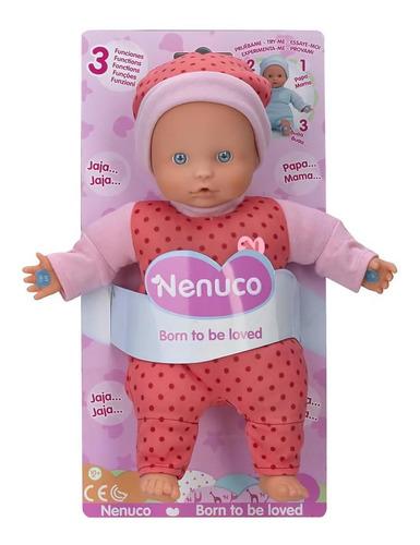 bebote muñeco nenuco blandito funciones habla rie llora cuot