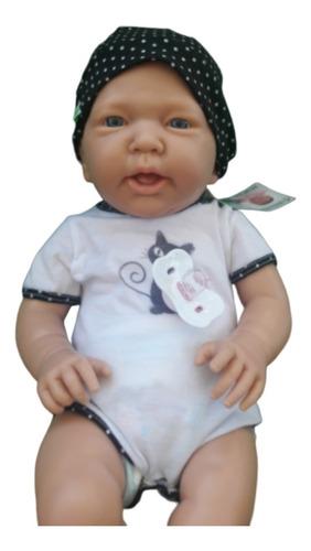 bebote real bebe reborn 53 cm bebote con chupete y  body