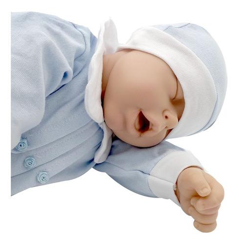 bebote reborn bebe real dormidito gorrito chupete y mantita