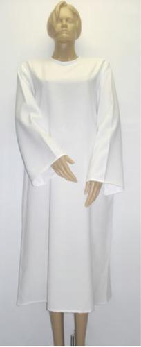beca bata capa tunica  para batismo  igreja evangélica