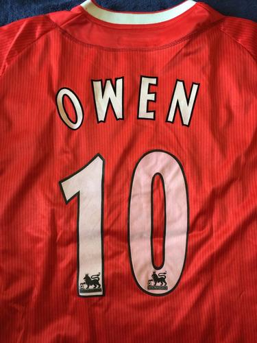 beckham owen inglaterra manchester liverpool jersey futbol