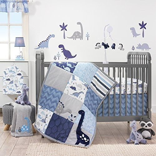 bedtime originals roar dinosaur 3 piezas cuna juego de cama,