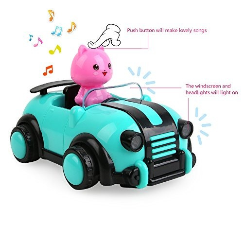 beebeerun dibujos animados rc coche de carreras radio contro