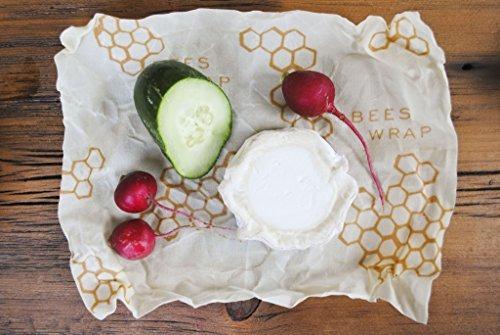 bee's wrap 3 piezas de almacenamiento de alimentos reutiliza