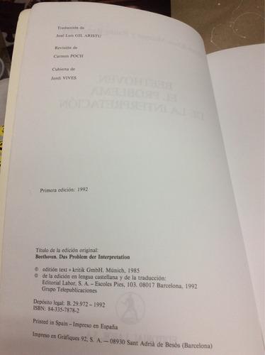 beethoven, el problema de la interpretación- heinz klaus m.