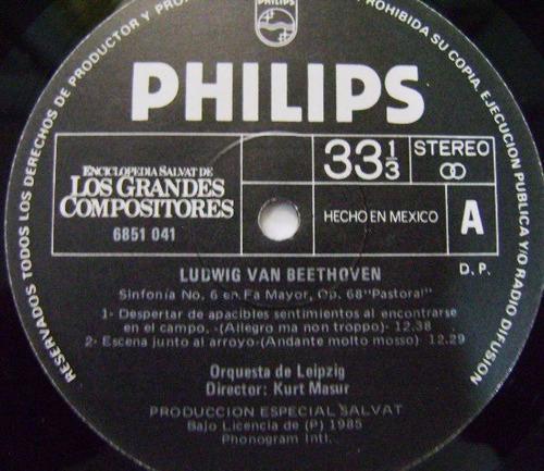 beethoven sinfonía n.6  pastoral  1 disco  lp vinil