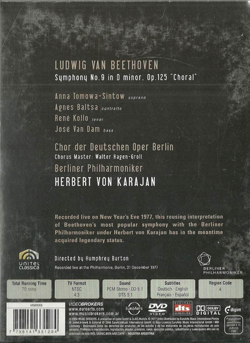 beethoven - symphony nº 9 - herbert von karajan dvd