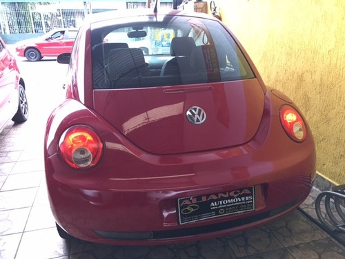 beetle 2.0, automático + couro + teto solar, 2007, vermelho