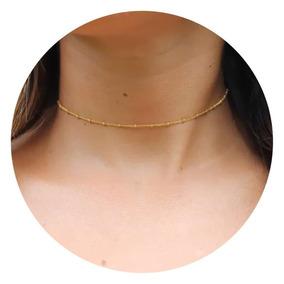cbc30bd1ecbe Gargantillas De Oro Puro Mujer - Collares y Cadenas en Mercado Libre Perú