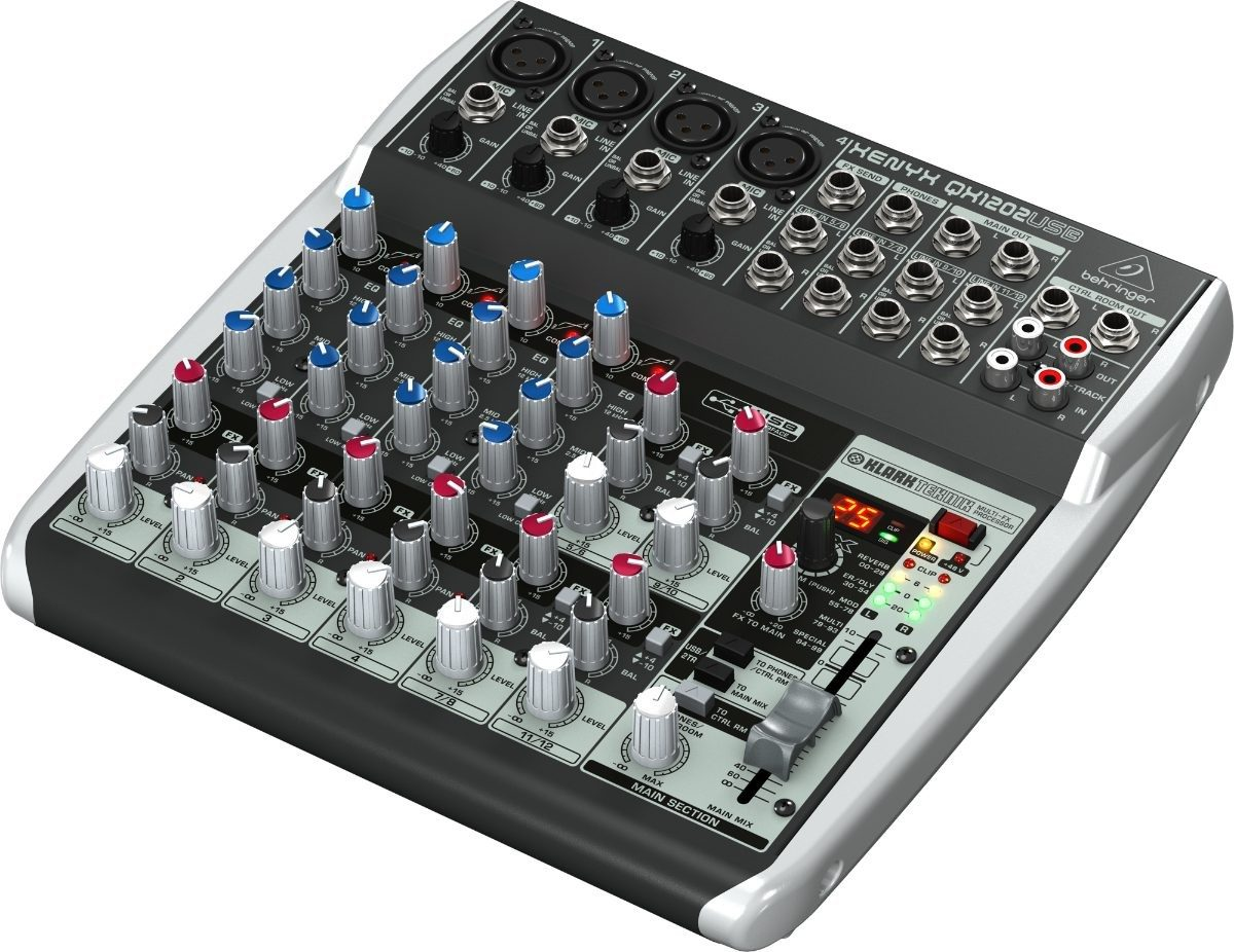 Mesa behringer com efeitos xenyx qx1202usb interface audio for Mesas behringer