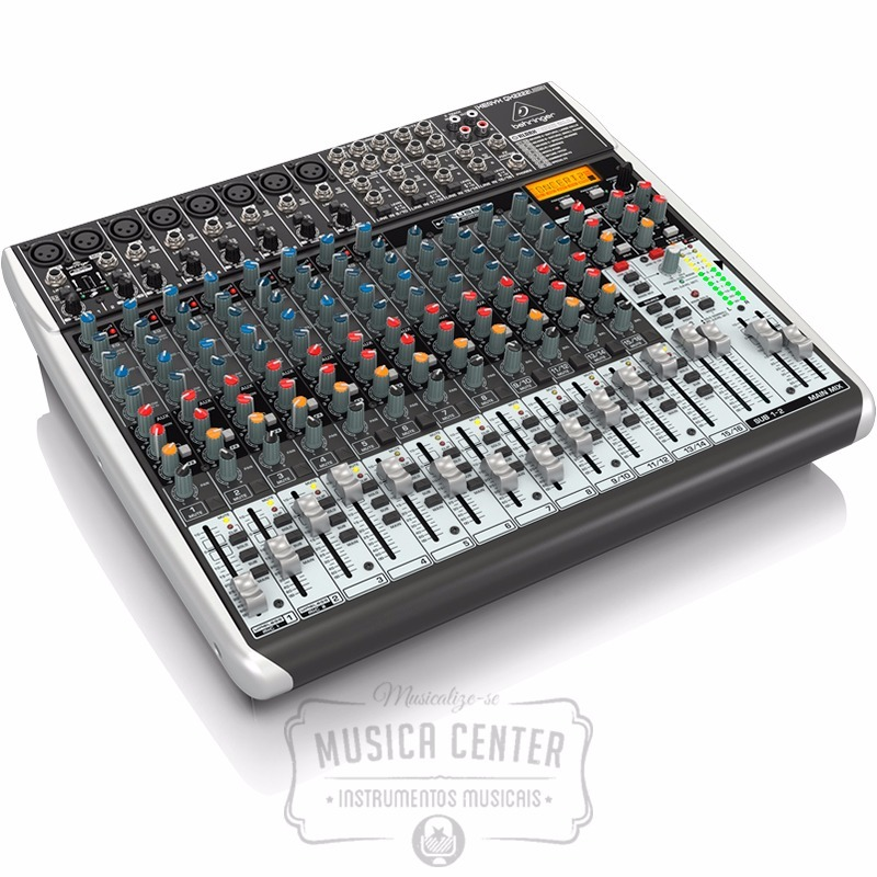 Mesa de som behringer xenyx qx2222 mixer usb 22 canais r for Mesas behringer