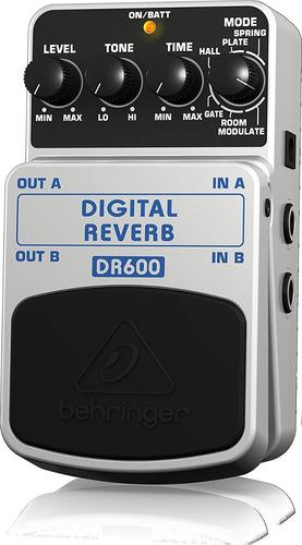 behringer digital reverb dr600 pedal p/ guitarra + garantia!