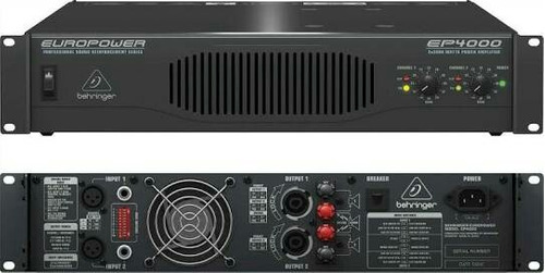 behringer e4000 power amplificador 4000w 2 canales ss-pro