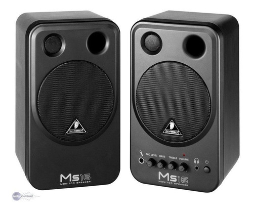 behringer ms16 monitor home estudio kit x 2 tv