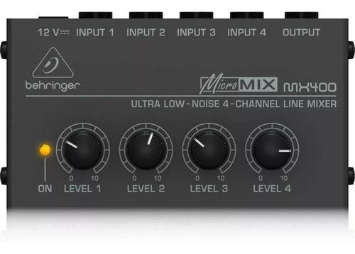 behringer mx400 mezcladora de linea 4 canales envio gratis