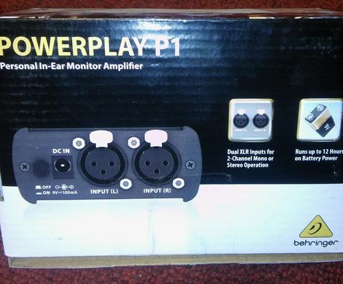 behringer p1 sistema de monitoreo personal amplificador tv