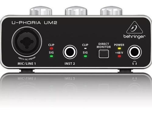 behringer u-phoria um2 audiophile 2x2 interfaz de audio usb + cuotas