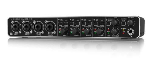 behringer u-phoria umc404hd interfaz de audio