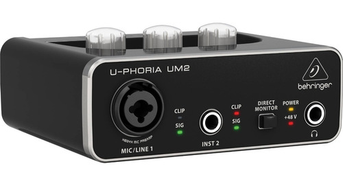 behringer um2 2x2 xenyx pre amps interfaz de audio - full