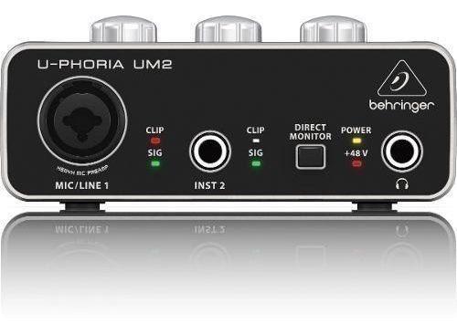 behringer um2 interface audio usb 2x2 portable