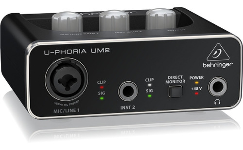 behringer um2 - interfaz de audio usb 2x2