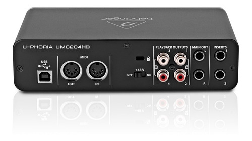 behringer umc204 hd - interfaces usb
