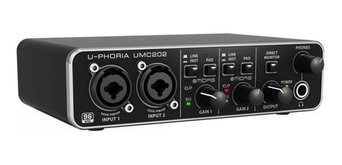 behringer uphoria umc202 hd placa de audio usb 24bit 192khz