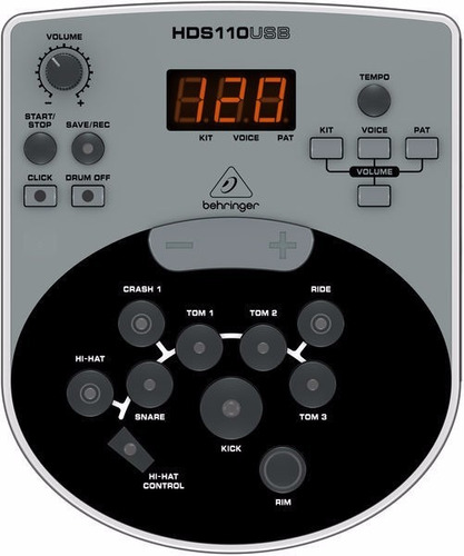 behringer xd8usb bateria electronica completa 8 cuerpos pro