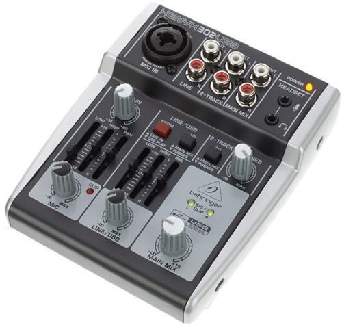 behringer xenyx 302usb consola interface de audio usb  2 can