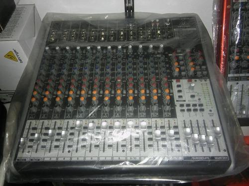 behringer xenyx qx2442 usb consola mixer 16canales fx