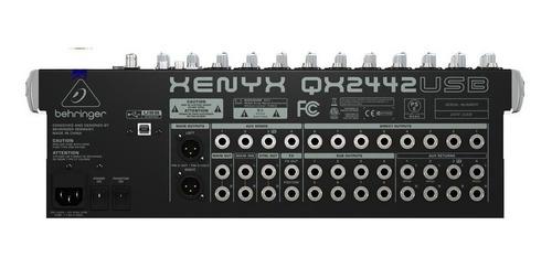 behringer xenyx qx2442 usb consola mixer 16canales fx tv
