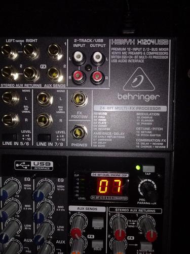 behringer xenyx x1204usb mezclador de 12 entradas y 2/2 buse