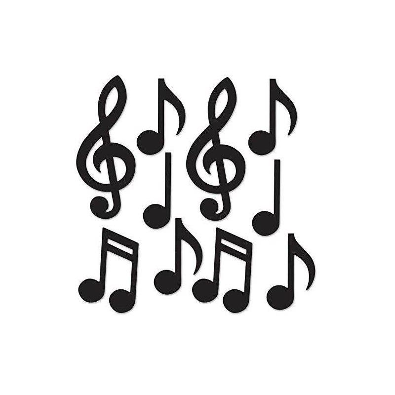 Beistle 54735 Bk Mini Notas Musicales Siluetas Valor 30 Pac