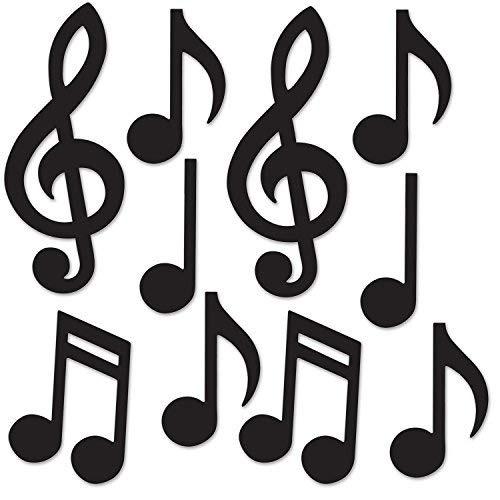 Beistle 54735 Bk Mini Notas Musicales Siluetas Valor 39990