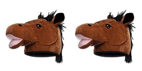 beistle s60918az2 la cabeza de caballo sombrero, multicolor