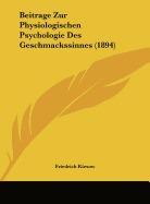 beitrage zur physiologischen psychologie, friedrich kiesow